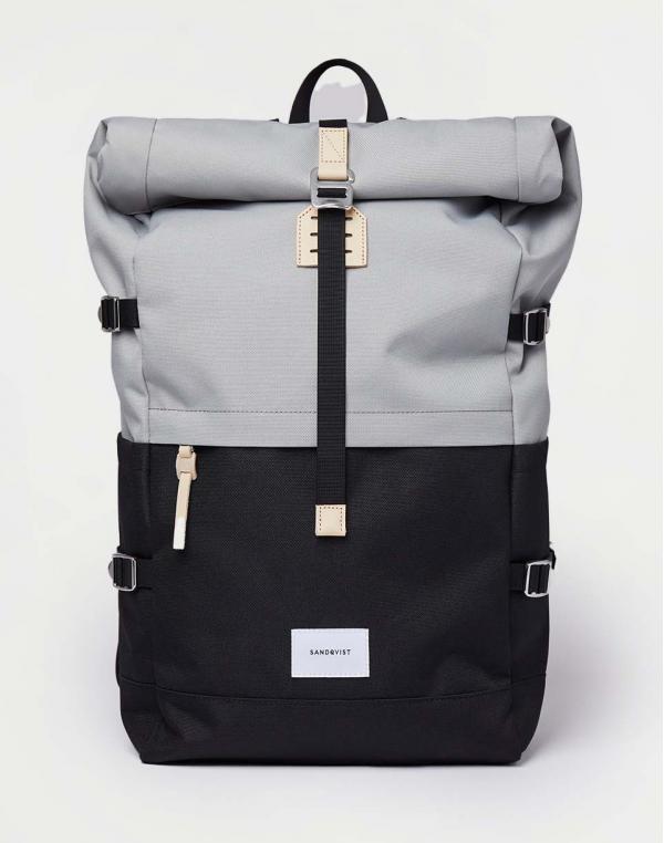 Sandqvist Bernt Multi Grey/Black with natural leather