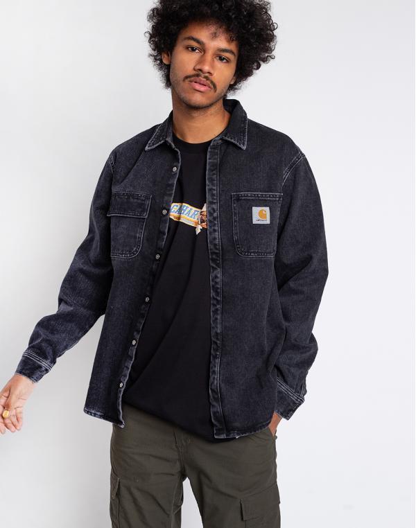 Carhartt WIP Salinac Shirt Jac Black stone washed L