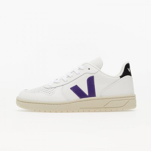 Veja W V-10 Leather Extra White/ Purple/ Black