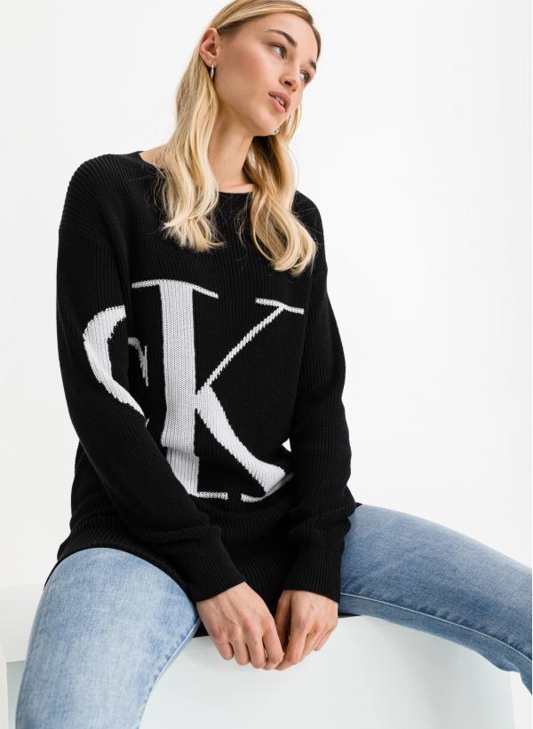 Sliced Oversized Svetr Calvin Klein