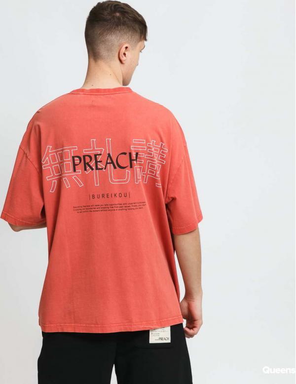 PREACH Bureikou Character Tee tmavě růžové