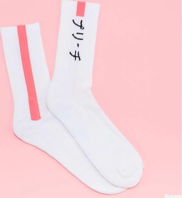 PREACH Japanese Line Socks bílé / růžové