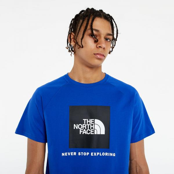 The North Face Short Sleeve Rag Red Box Tee Blue