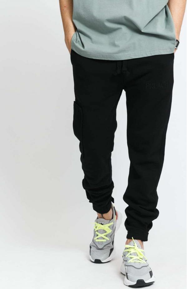 PREACH Stripe Pocket Sweatpants černé