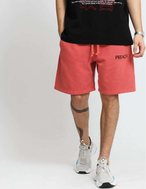 PREACH Essential Sweat Shorts tmavě růžové