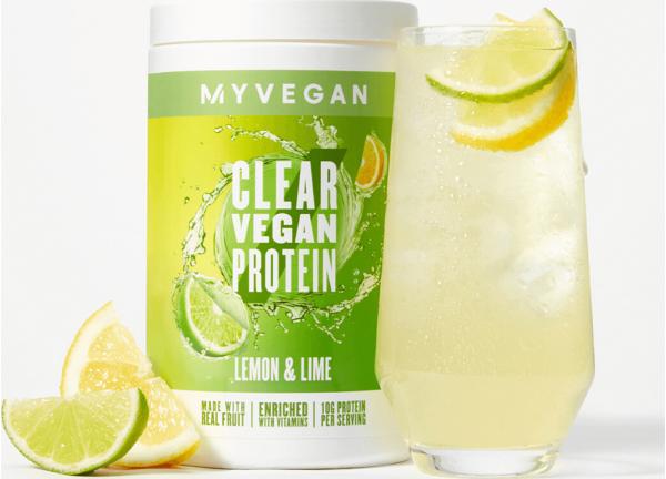 Myvegan  Clear Vegan Protein - 640g - Citrón a Limetka