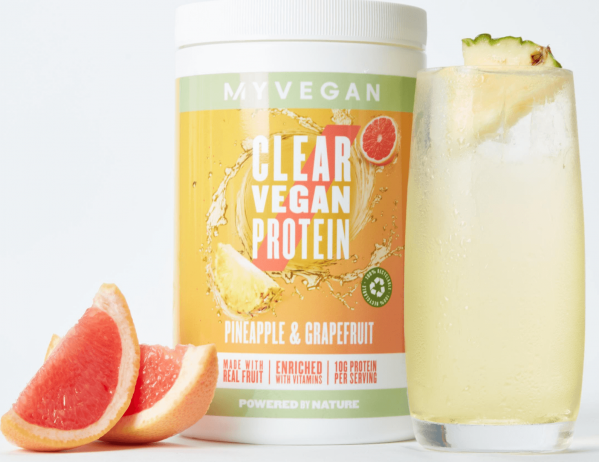 Myvegan  Clear Vegan Protein - 640g - Pineapple & Grapefruit