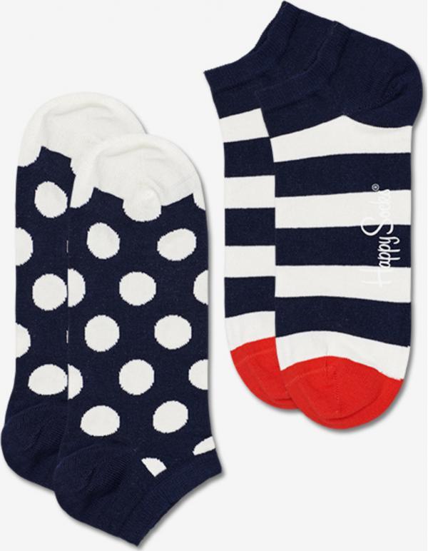 Big Dot Stripe Low Ponožky 2 páry Happy Socks