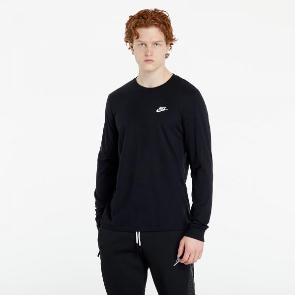 Nike Sportswear Club LongSleeve Tee Black/ White