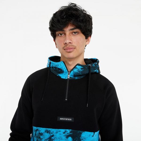 Horsefeathers Murphy Sweatshirt Blue Tie Dye