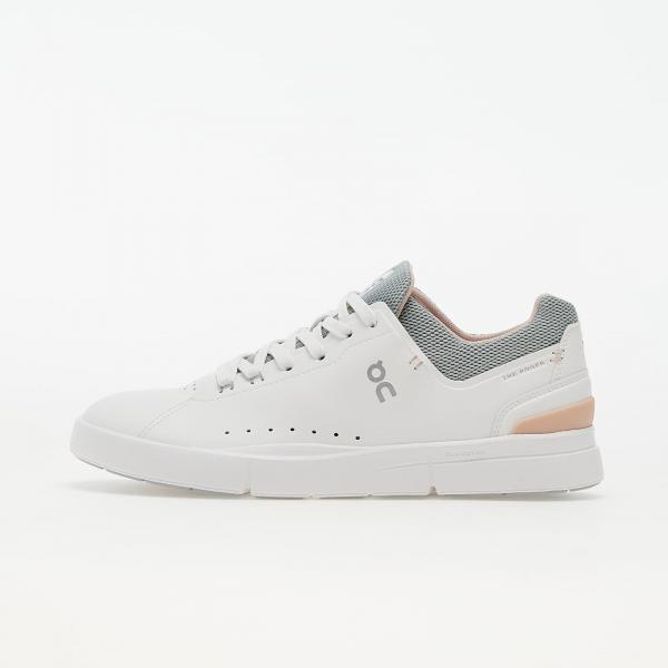 ON running W The Roger Advantage White/ Rose