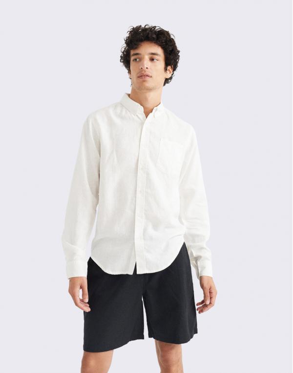 Thinking MU White Hemp Ant Shirt SNOW WHITE RFD S