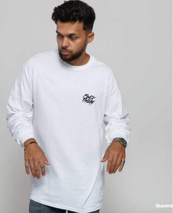 F*CK THEM Basic Long Sleeve Tee bílé