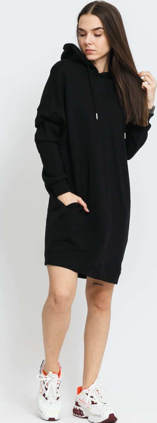 Urban Classics Ladies Organic Oversized Terry Hoody Dress černé