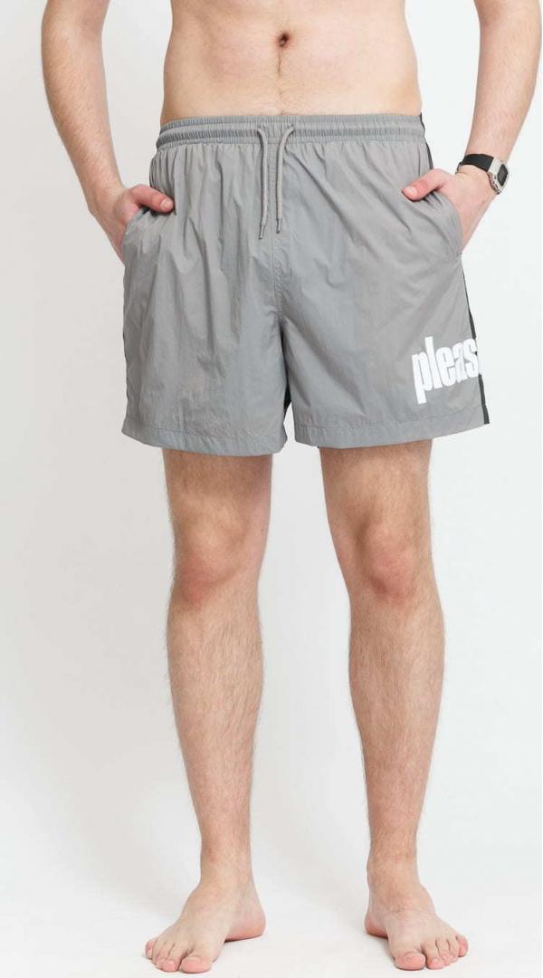 PLEASURES Electric Active Shorts tmavě šedé