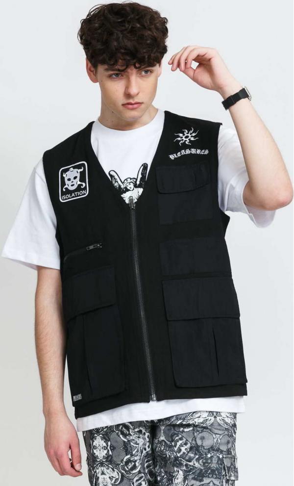 PLEASURES Strike Vest černá