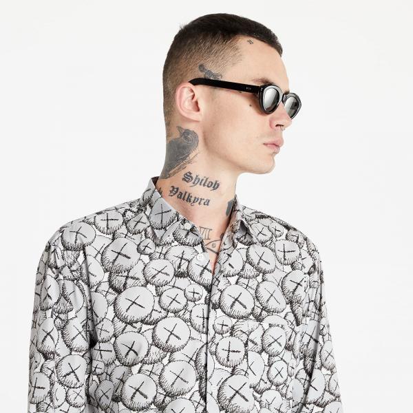 Comme des Garçons SHIRT x KAWS Mens Shirt Woven Grey