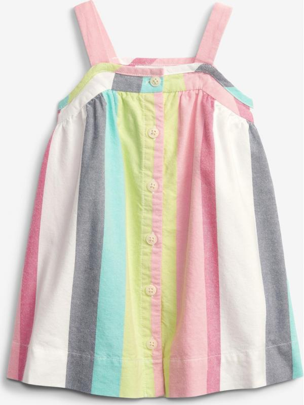 Baby Stripe Button Šaty dětské GAP
