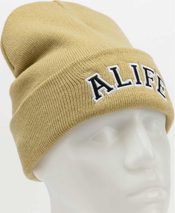 Alife Collegiate Beanie světle béžový