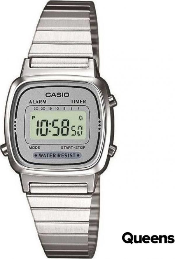 Casio LA 670WEA-7EF stříbrné