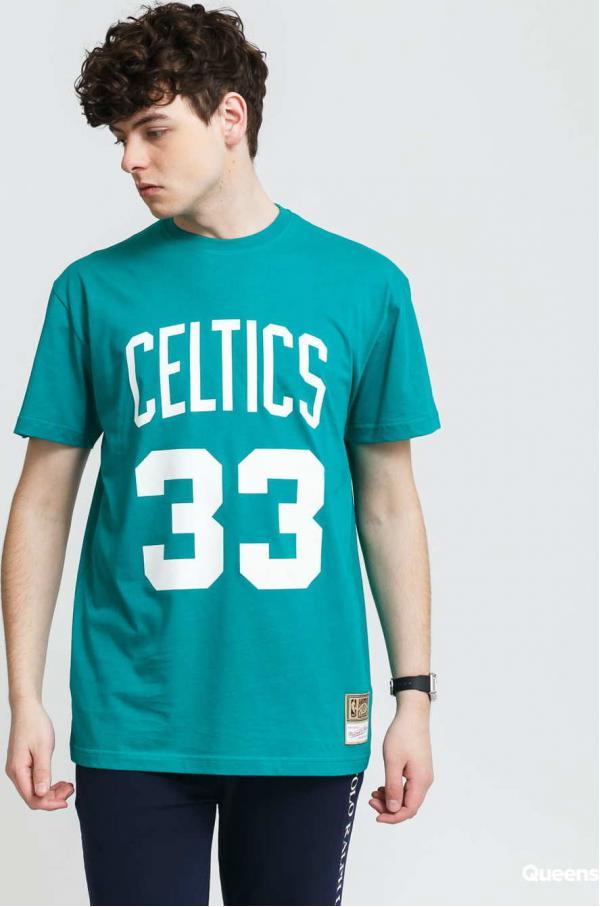 Mitchell & Ness Name & Number Tee - Bird #33 Boston Celtics zelené