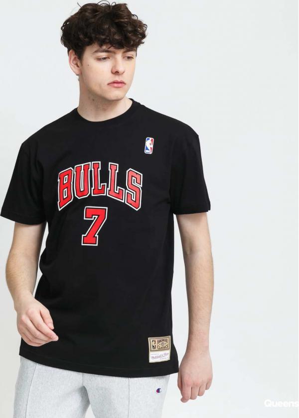 Mitchell & Ness NBA Name & Number Tee - Kukoc #7 Chicago Bulls černé