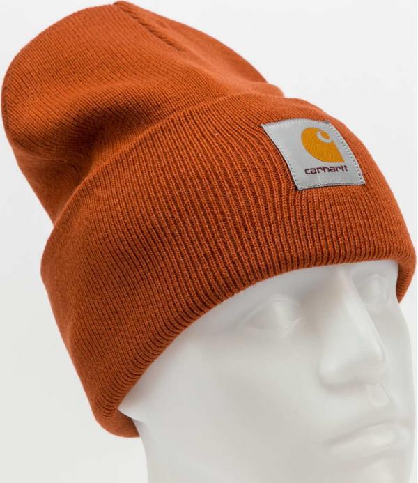 Carhartt WIP Acrylic Watch Hat tmavě oranžový