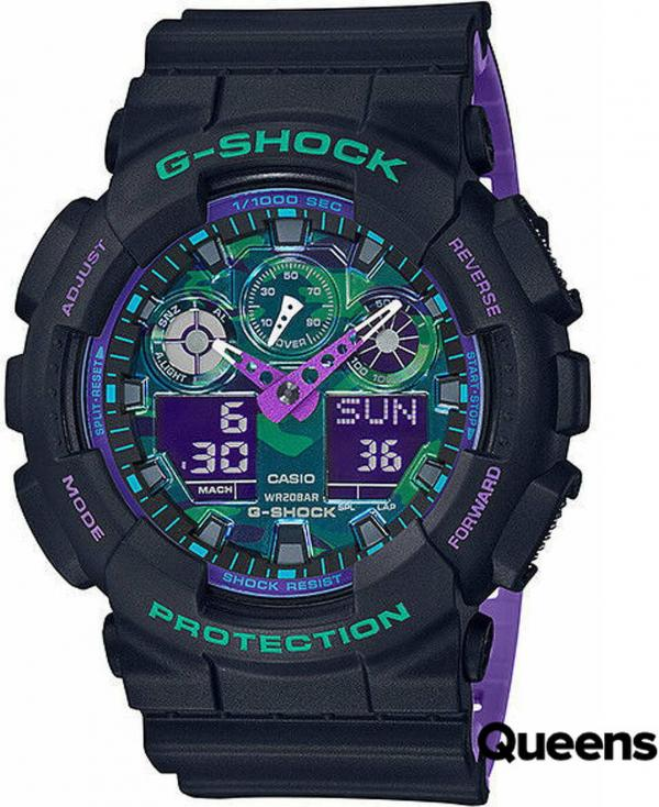 Casio G-Shock GA 100BL-1AER černé / multicolor