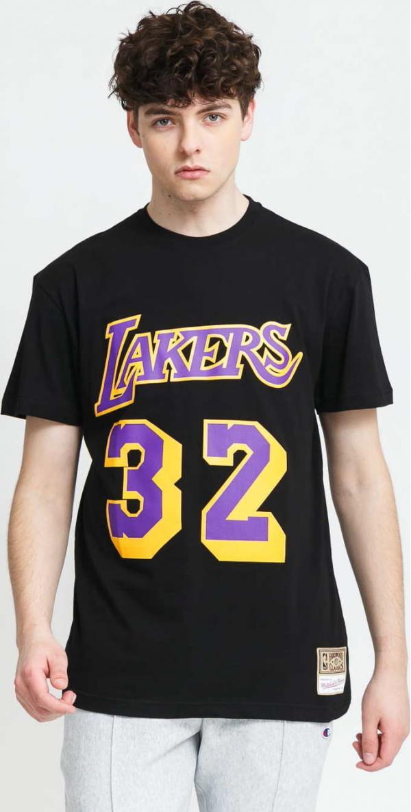 Mitchell & Ness Name & Number Tee - Johnson #32 LA Lakers černé