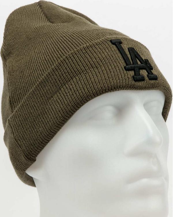 New Era MLB Colour Essential Cuff Knit LA olivový