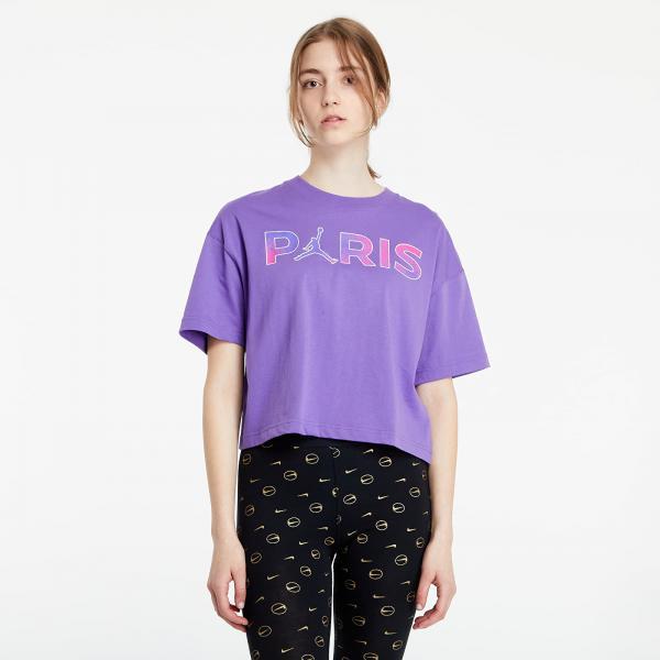 Jordan Paris Saint-Germain Short Sleeve Core Tee Wild Violet