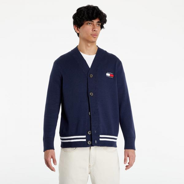 Tommy Jeans Badge Texture Cardigan Twilight Navy