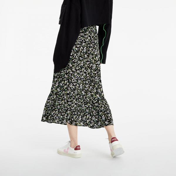 Tommy Jeans Tiered Floral Midi Skirt Floral Print