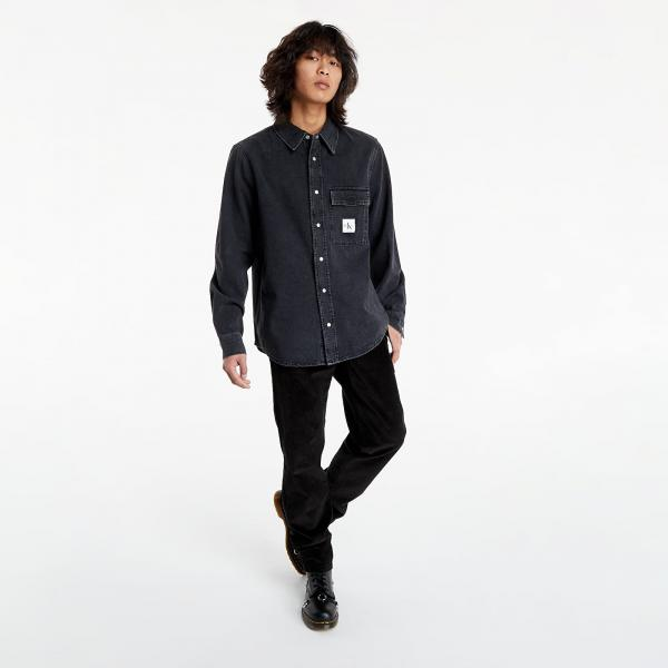 Calvin Klein Jeans Denim Shirt Denim Black