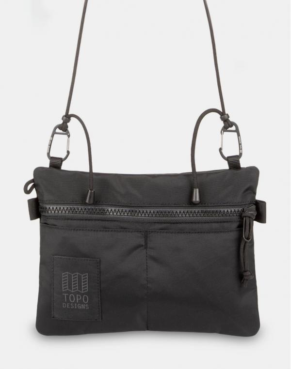 Topo Designs Carabiner Shoulder Accessory Bag Black/Black