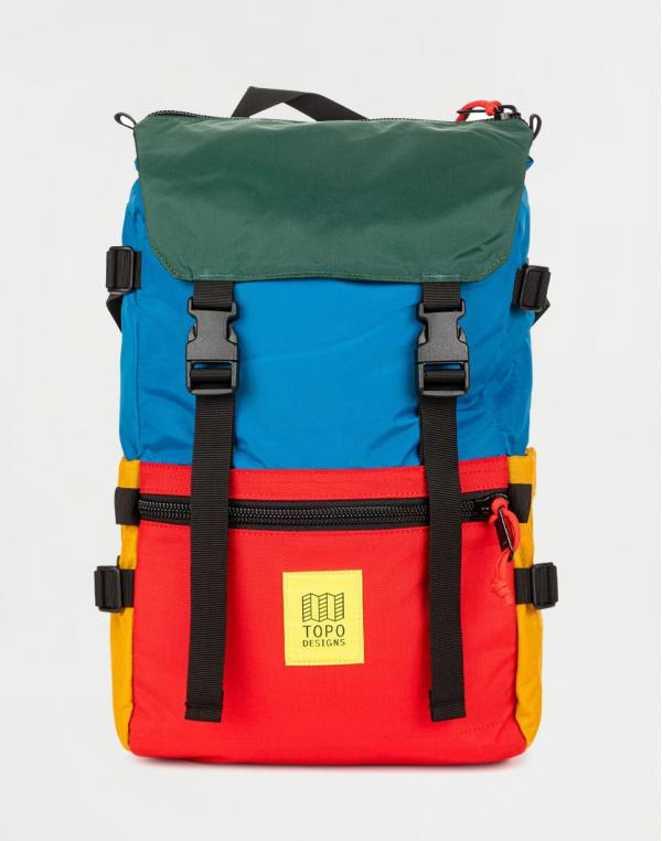Topo Designs Rover Pack Classic Blue/Red/Forest
