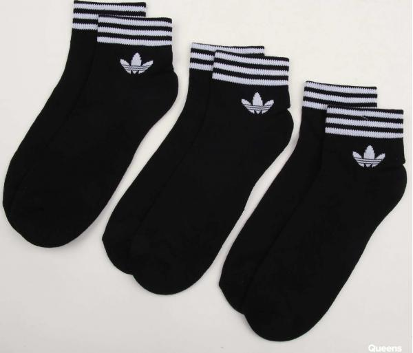 adidas Originals Trefoil Ankle Socks HC 3Pack černé / bílé
