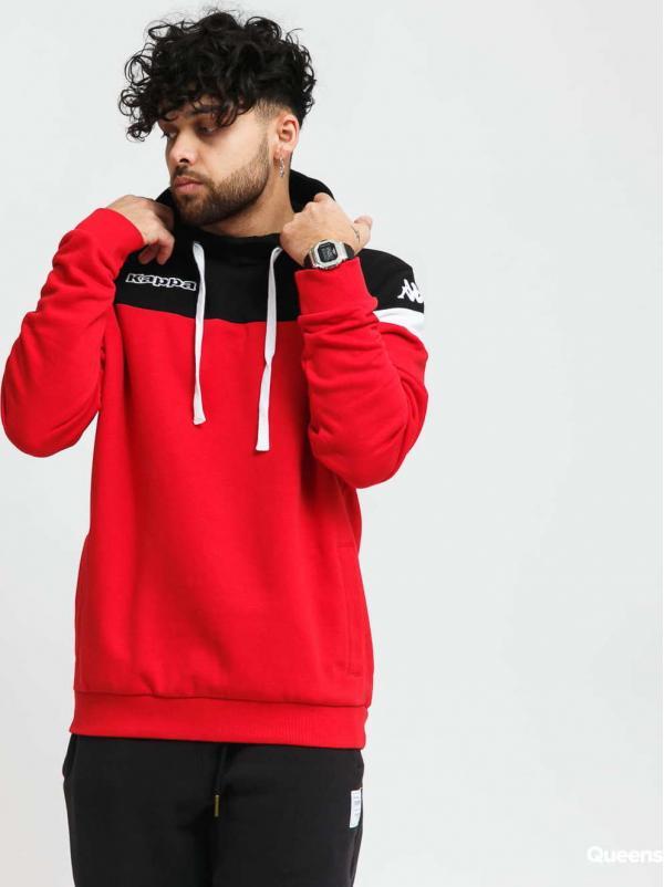 Kappa Authentic Accio Hoody červená / černá