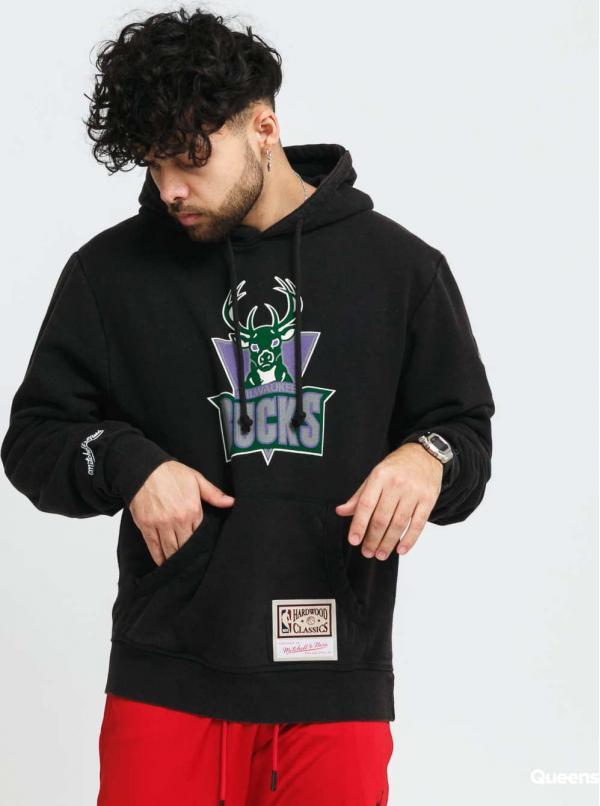 Mitchell & Ness Worm Logo Wordmark Hoody Bucks černá