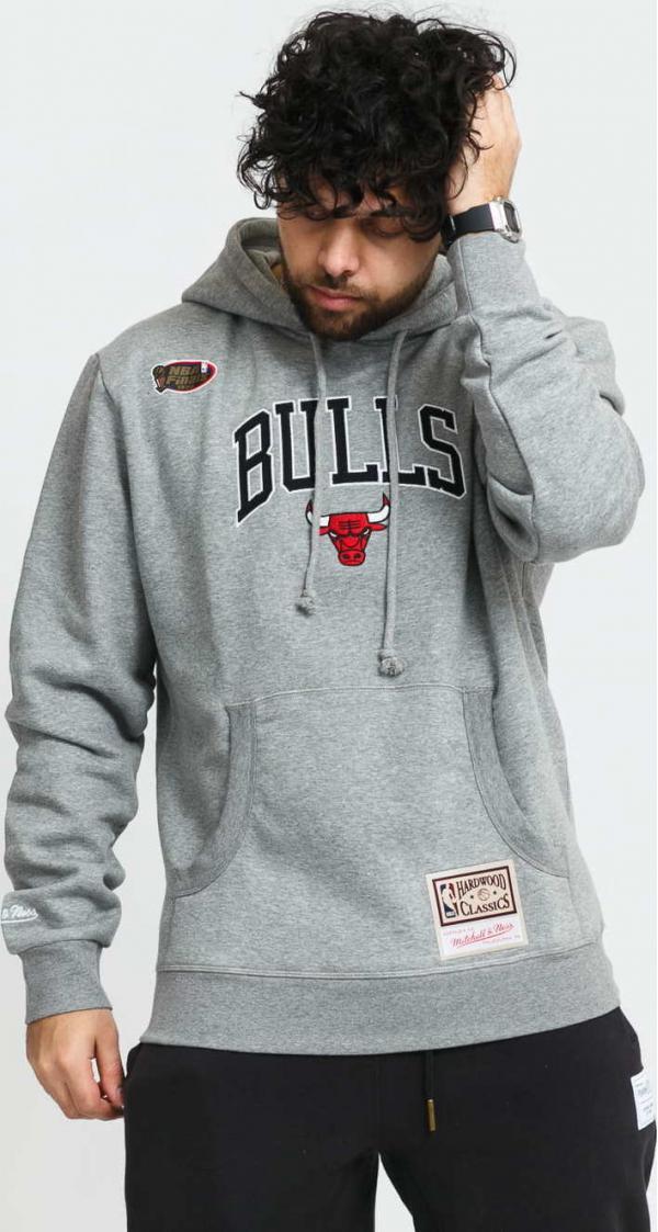 Mitchell & Ness Arch Hoodie Chicago Bulls melange šedá