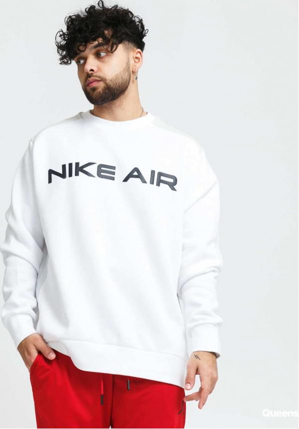 Nike M NSW Nike Air Fleece Crew bílá