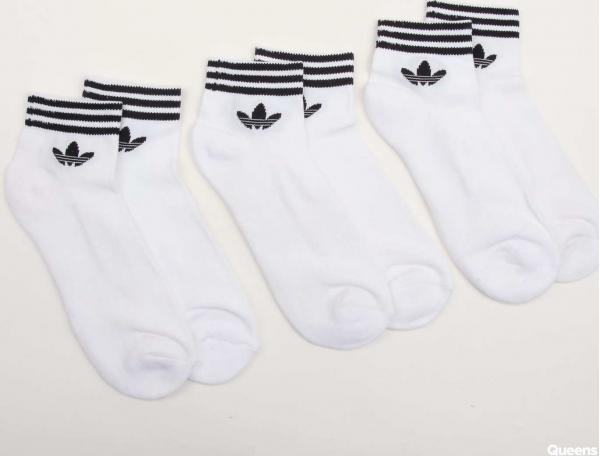 adidas Originals Trefoil Ankle Socks HC 3Pack bílé / černé