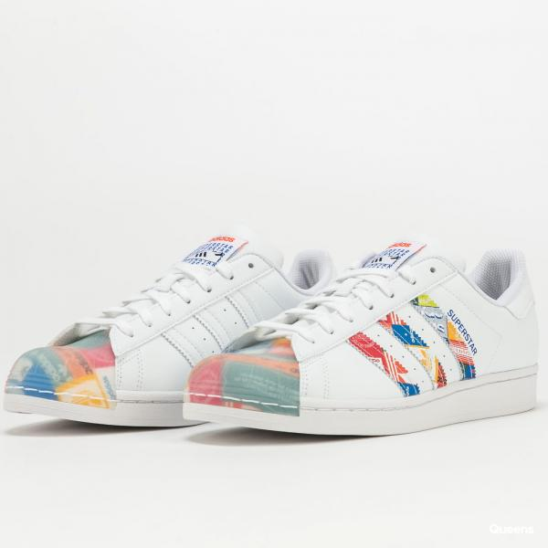 adidas Originals Superstar ftwwht / blue / orange EUR 46 2/3