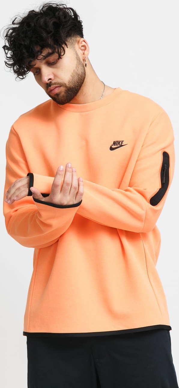 Nike M NSW Tech Fleece Crew oranžová