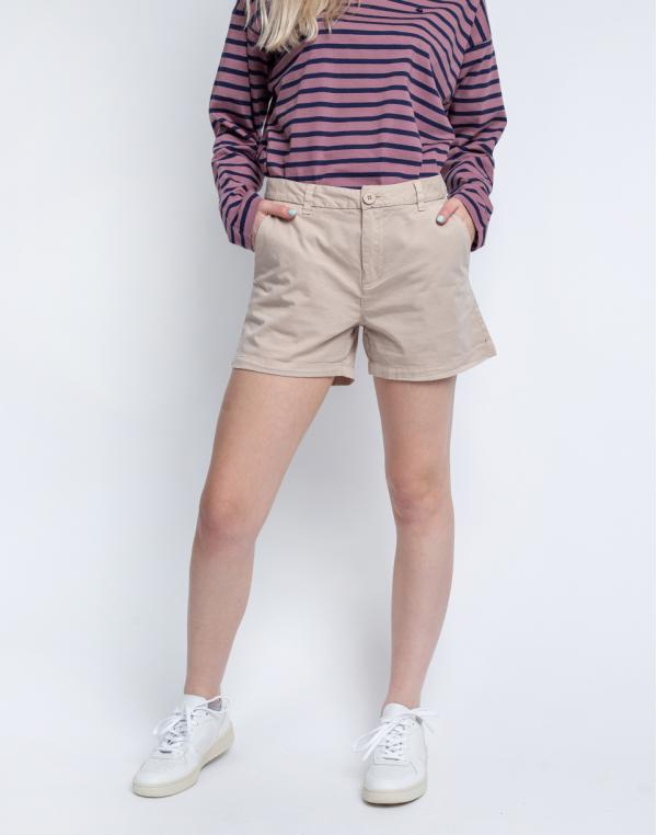 Knowledge Cotton Willow Chino Shorts 1228 Light feather gray 34