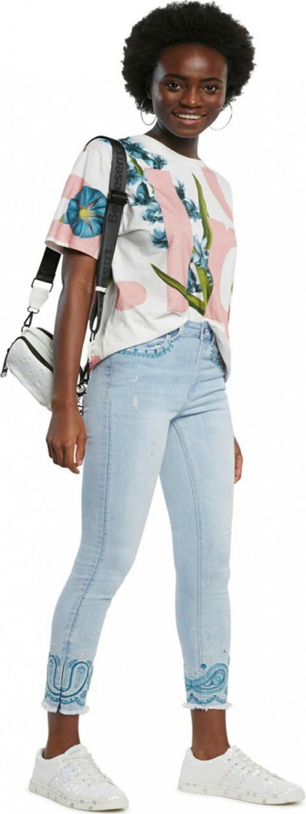 Denim Ankle Paisley Jeans Desigual