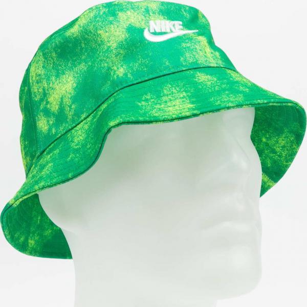 Nike U NSW Bucket Futura Tie Dye zelený / limetkový L-XL