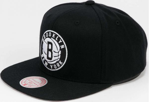 Mitchell & Ness Wool Solid Snapback Brooklyn Nets černá / šedá