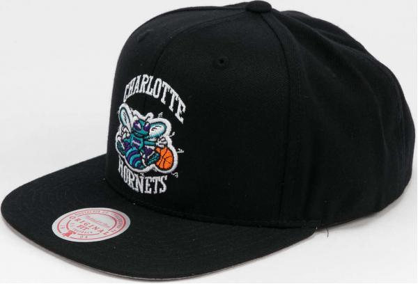 Mitchell & Ness Wool Solid Snapback Charlotte Hornets černá / šedá