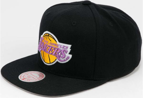Mitchell & Ness Wool Solid Snapback LA Lakers černá / šedá